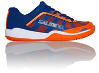 last few - Salming Falco Junior Unisex Court Shoes, Limoges blue / Orange Flame
