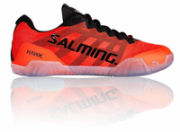 Salming Hawk Unisex / Men's Court Shoes, Black / Lava Red