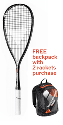 FREE Tecnifibre Air Endurance Backpack with 2 rackets - Tecnifibre Carboflex 135 S Squash Racquet