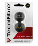 Tecnifibre Double Yellow Dot Squash Balls, 2-Pack