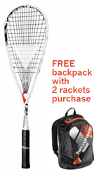 FREE Tecnifibre Air Endurance Backpack with 2 rackets - Tecnifibre Dynergy AP 130 Squash Racquet with Free Premium Strings