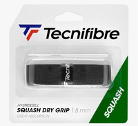 Tecnifibre Squash Dry Replacement Grip, 1-pack, Black