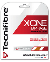 Tecnifibre X-One Biphase Squash String, 18 g, Orange, SET