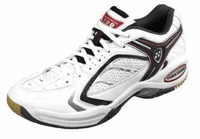 Yonex SHB-200EX Power Cushion Unisex Court Shoes, White / Red