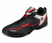 Yonex SHB-72EX Power Cushion Unisex Court Shoes, Black / Red