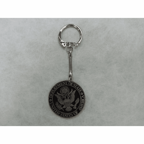 DOS Pewter Keychain