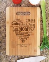 Personalized We Love You Mom Mothers Day Recipe Engraved Cutting Board
