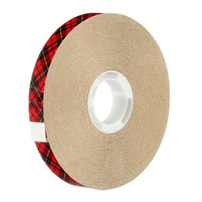 "3M™ 021200-03331 Scotch® 924 Clear 2.0 Mil ATG Adhesive Transfer Tape - 1/2"" x 36 Yard Roll"