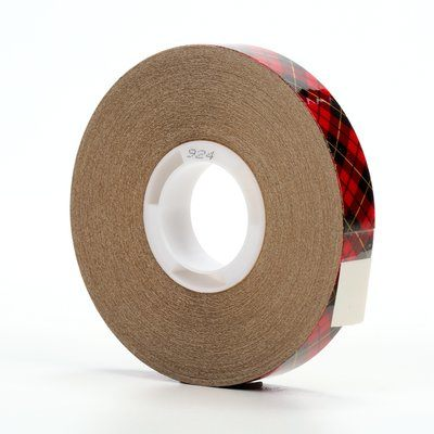 "3M™ 021200-03332 Scotch® 924 Clear 2.0 Mil ATG Adhesive Transfer Tape - 3/4"" x 36 Yard Roll"