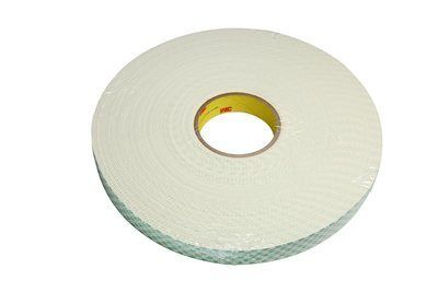 "3M™ 021200-03398 Natural 4116 Single-Coated 62 Mil Urethane Foam Tape - 1/4"" x 36 Yard Roll"