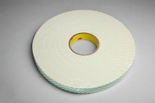 "3M� 021200-03400 Natural 4116 Single-Coated 62 Mil Urethane Foam Tape - 1/2"" x 36 Yard Roll"