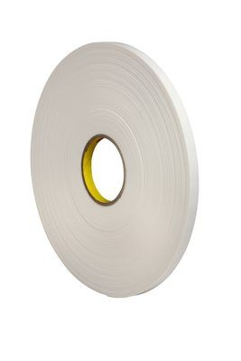 "3M� 021200-03408 Natural 4108 Single-Coated 125 Mil Urethane Foam Tape - 1"" x 36 Yard Roll"