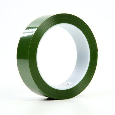 "3M™ 021200-04368 Green 8402 Polyester Tape - 2"" x 72 Yard Roll"
