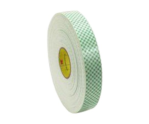 "3M� 021200-06453 Off-White 4016 Double 62.5 Mil Coated Urethane Foam Tape - 1/2"" x 36 Yard Roll"