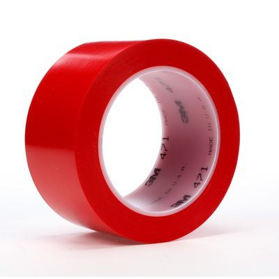"3M� 021200-06469 Red 471 Vinyl 5.2 Mil Tape - 3"" x 36 Yard Roll"