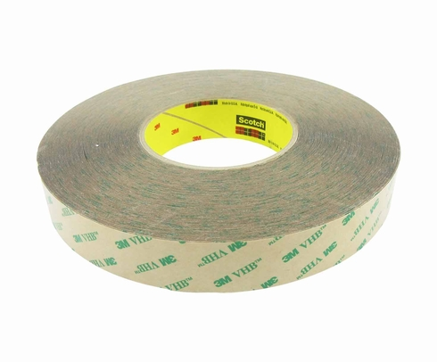 "3M� 021200-13969 VHB� F9473PC Clear 10 Mil Adhesive Transfer Tape - 1"" x 60 Yard Roll"