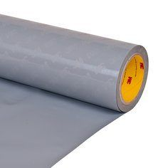 "3M� 021200-24209 Dark Gray 8641 Perforated 41 Mil Skip Slit Liner Polyurethane Protective Tape - 24"" x 2 Yard Roll"