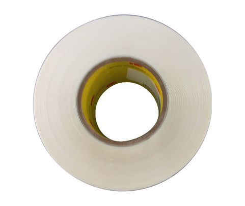"3M™ 021200-24344 Transparent 8671 Polyurethane 14 Mil Protective Tape - 3"" x 36 Yard Roll"