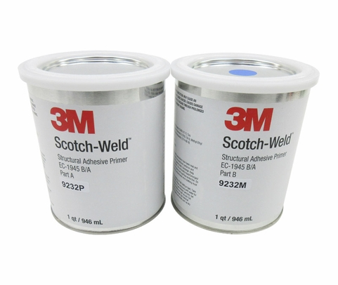 3M™ 021200-26010 Scotch-Weld™ EC-1945 B/A Clear Green/Yellow Structural Adhesives Primer - Quart Kit