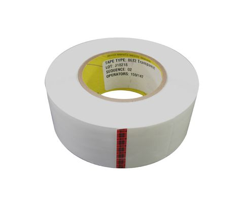 "3M™ 021200-39347 Transparent 8672 Polyurethane 8 Mil Protective Tape - 2"" x 36 Yard Roll"