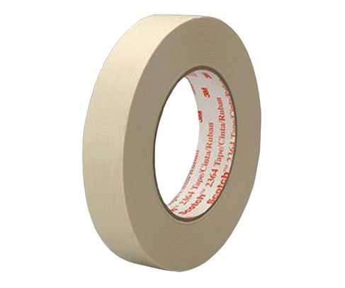 3M� 021200-44578 Scotch� 2364 Tan Performance Masking Tape - 6 mm x 6.5 Mil x 55 m Roll