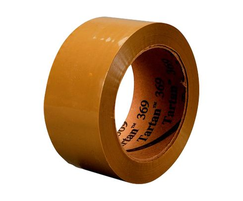 3M� 021200-61549 Tartan� 369 Tan 1.6 Mil Box Sealing Tape - 48 mm x 100 m Roll
