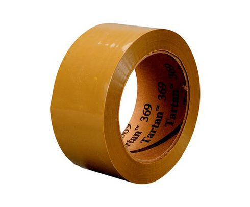 3M� 021200-62481 Tartan� 369 Tan 1.6 Mil Box Sealing Tape - 72 mm x 100 m Roll
