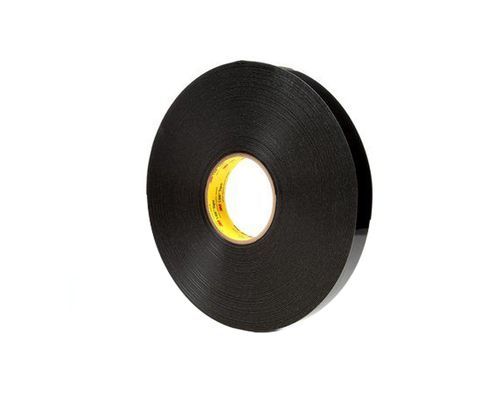 "3M� 021200-67497 VHB� 4949 Black 45 Mil Acrylic Foam Tape - 3/4"" x 36 Yard Roll"