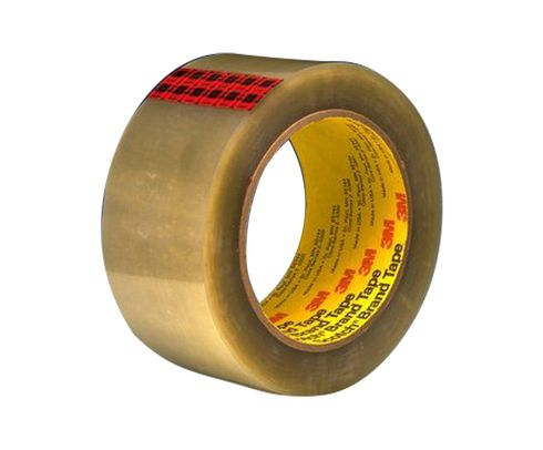 3M� 021200-72318 Scotch� 351 Clear 3.43 Mil Government Certification Box Sealing Tape - 48 mm x 3 x 50 m Roll