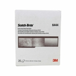 "3M™ 048011-16553 Scotch-Brite™ 6444 Brown Fine 6"" x 9"" Extra Duty Hand Pad - 20 Pads/Box"
