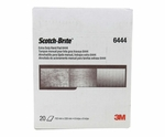 "3M� 048011-16553 Scotch-Brite� 6444 Brown Fine 6"" x 9"" Extra Duty Hand Pad - 20 Pads/Box"