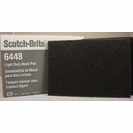 "3M™ 048011-16555 Scotch-Brite™ 6448 Gray Ultra Fine 6"" x 9"" Light Duty Hand Pad - 20 Pads/Box"