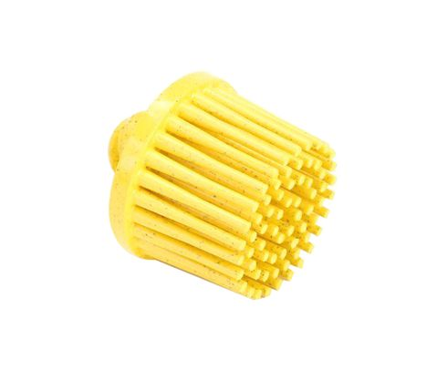 "3M� 048011-18706 Scotch-Brite� RD-ZB Roloc� Yellow 1"" X 5/8"" 80 Grit Tapered Grade Bristle Disc"
