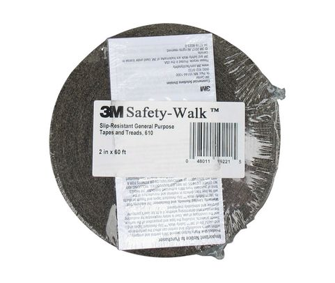 "3M� 048011-19221 Safety-Walk� 610 Black Slip-Resistant General Purpose Tapes & Treads - 2"" x 60' Roll"