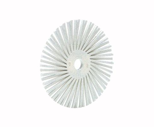 "3M� 048011-24281 Scotch-Brite� RB-ZB White 3"" 120 Grit Radial Bristle Disc - 40 Discs/Pack"