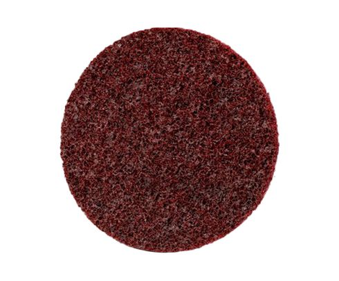 "3M™ 048011-33805 Scotch-Brite™ Sl-Dh Maroon 4 1/2"" Medium Surface Conditioning Disc - 50 Discs/Case"