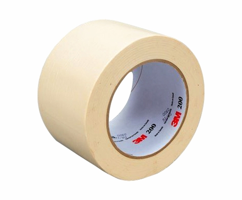 3M™ 048011-53467 Tartan™ 200 Tan Masking Tape - 72 mm x 55 m Roll