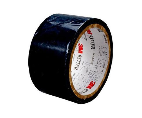 "3M™ 051115-25816 Black 9377 Flame 12 Mil Retardant Double Coated Tape - 2"" x 25 Yard Roll"
