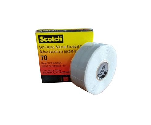 """3M� 051128-57261 Scotch� 70 Sky Blue/Gray 12 Mil Self-Fusing Silicone Rubber Electrical Tape - 1"""" x 30 ft Roll"""
