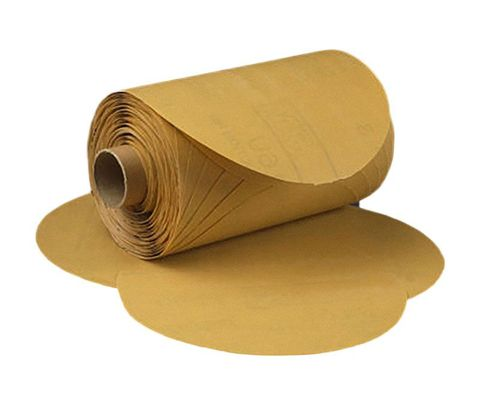 "3M� 051144-01352 Stikit� 216U Gold 6"" x NH P500 A-weight Sandpaper Disc - 175 Disc/Roll"