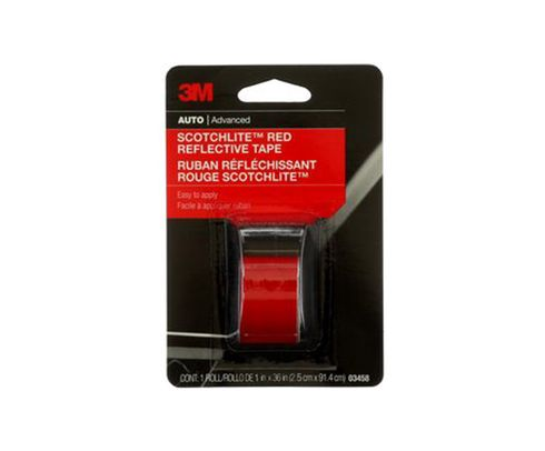 "3M™ 051131-03458 Scotchlite™ 03458 Red Reflective Tape - 1"" x 36"" Roll"