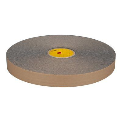 "3M� 051131-06449 Charcoal Gray 4318 Urethane 125 Mil Foam Tape - 1"" x 36 Yard Roll"