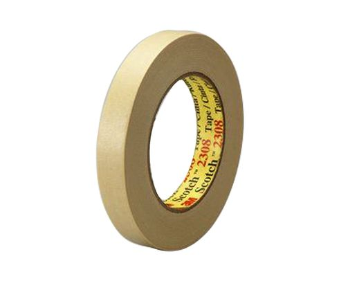 3M� 051131-06548 Tan 2308 Masking 5.3 Mil Tape 48 mm x 55 m Roll