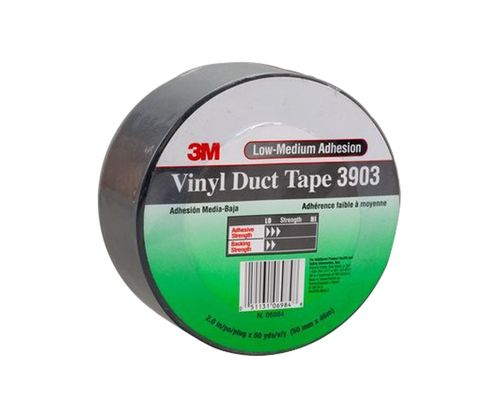 "3M� 051131-06984 Gray 3903 Vinyl 6.5 Mil Duct Tape - 2"" x 50 Yard Roll"