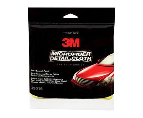 "3M� 051131-39016 39016 Yellow 12"" X14"" Microfiber Detail Cloth Strip - 12/case"