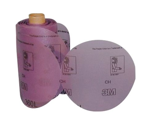 "3M� 051135-06222 Stikit� 360L Purple 5"" P800 Grit Film Disc - 125 Discs/Roll"