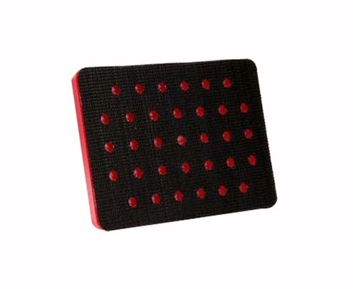 "3M� 051141-20435 Hookit� Red 3"" X 4"" X 1/2"" Clean Sanding Disc Pad - 10/Case"