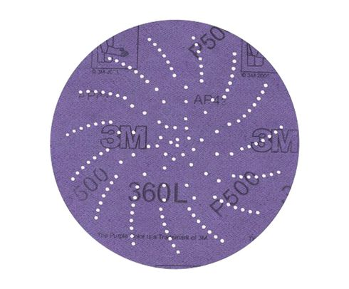 "3M� 051141-20821 360L Purple 3"" P220 Grit Sanding Disc - 100 Discs/Pack"