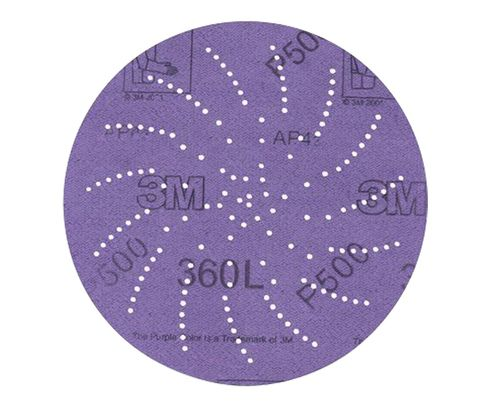 "3M� 051141-20826 360L Purple 3"" P500 Grit Sanding Disc - 500 Discs/Pack"
