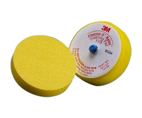 """3M� 051144-14736 Finesse-it� Roloc� Yellow 3"""" Finish Disc Pad - 120 Pads/Pack"""